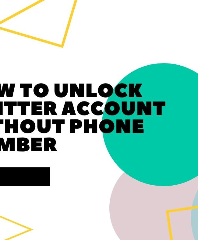 How to Unlock Twitter Account Without Phone Number